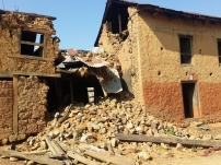 Homes in state of collapsing