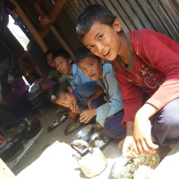 Children having their meal