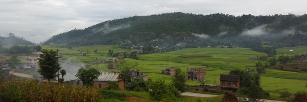 Backdrop of our village