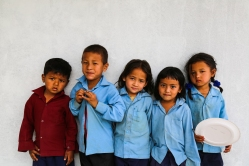Children from Shree Thakuri Primary School