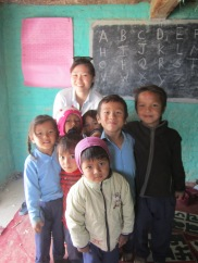 Singaporean sister who came to see our NGO works in Nepal